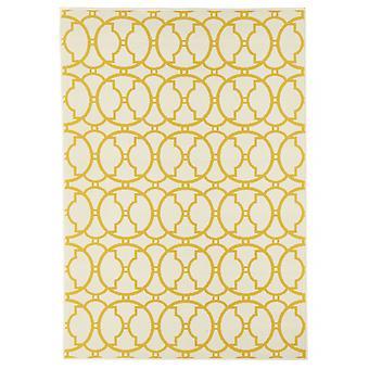 Utomhus mattan för terrass / balkong gul off-white vitaminic sammanflätad elfenben 133 / 190 cm matta inomhus / utomhus - för inomhus och utomhus