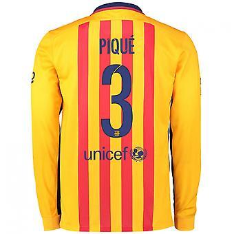 2015-2016 Barcelona Long Sleeve Away Shirt (Pique 3)