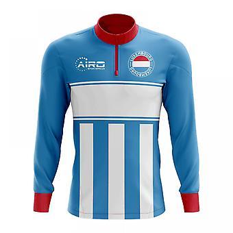 Luxemburg-Konzept Fußball Half Zip Midlayer oben (Himmel-blau-rot)