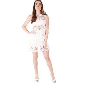 Danity Baby Pink A-Line Dress Featuring Open Sides And Lace