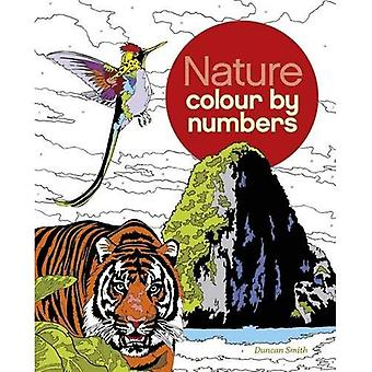 De kleur van de natuur door nummer boek (kleurstoffen Books)