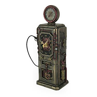 Steampunk Fuel Dispenser Working Clock Tower Statue