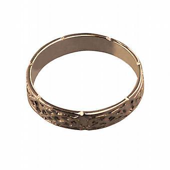 9ct 玫瑰金 4 毫米凯尔特结婚戒指尺寸 Z