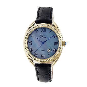 Sophie & Freda Austin MOP Swiss Ladies Watch - Gold/Black