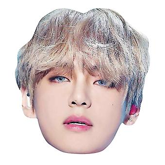 V from BTS Bangtan Boys 2D Card Party Fancy Dress Mask