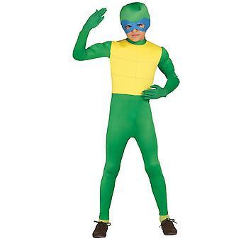 Pojat vihreä Ninja Kilpikonna naamiaispuku puku