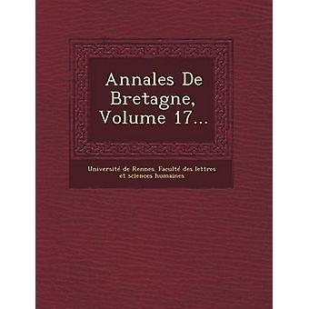 Annales de Bretagne Volume 17... by Universite De Rennes Faculte Des Lett