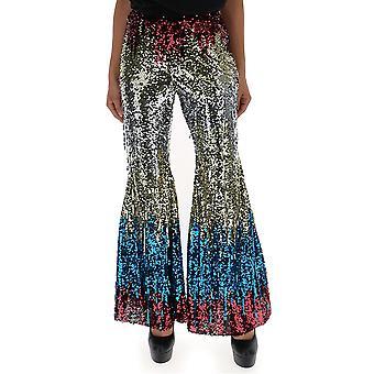 Amen Amw18309089 Donne's Pantaloni multicolore nylon
