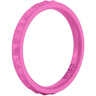 Enso Rings Pyramid Stackables Series Silicone Ring - Fuchsia