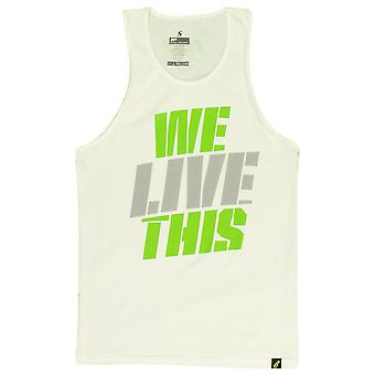 MusclePharm Mens MP We Live This Tank Top - White