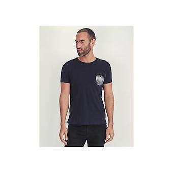 Sseinse gestreepte Pocket T-shirt