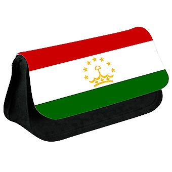 Tajikistan Flag Printed Design Pencil Case for Stationary/Cosmetic - 0173 (Black) by i-Tronixs