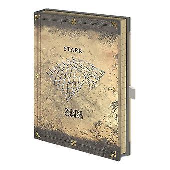 ゲーム・オブ・スローンズ スターク 着用プレミアムA5ノートブック