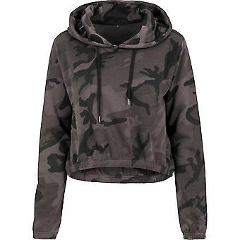 Cotton Addict Womens Camo Cropped Cotton Hoodie Sweatshirts
