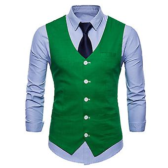 Allthemen Uomo Abito Uomo Vest sottile Four Seasons Casual Suit Vest 9 Colori disponibili