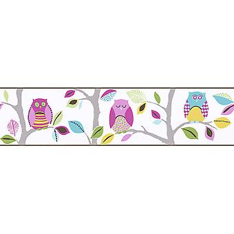 Bright Owls Self Adhesive Wallpaper Border (en)