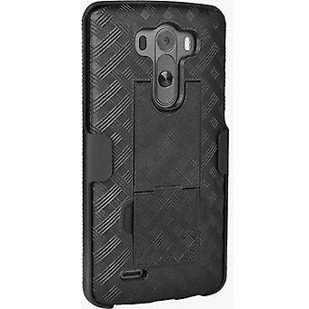 فيريزون Kickstand شل هولستر كومبو لLG G3 - أسود