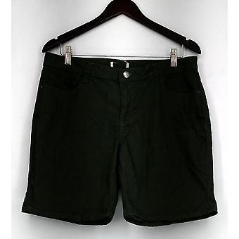 Één wereld zip & knop stretch vijf Pocket korte groene Womens A432385