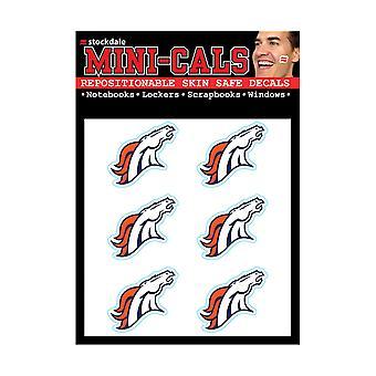 Wincraft 6 سلسلة ملصقا الوجه 3cm -- اتحاد كرة القدم الأميركي دنفر برونكوس
