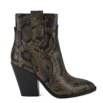 Ash ESQUIRE Heeled Boots Snake Print (en)