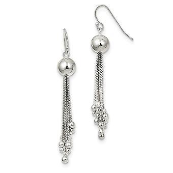 925 Sterling Silver Dangle Shepherd Hook Boucles d'oreilles Bijoux Bijoux pour les femmes - 4,4 Grammes