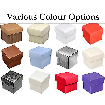 10 Boxes with Lids Card Gift Boxes for Wedding Party Favours