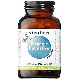Viridian العضوية Feverfew 350mg الخضار قبعات 60 (941)