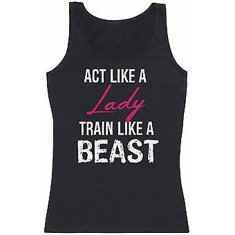 Act Like A Lady Train Like A Beast - Womens Tank Top
