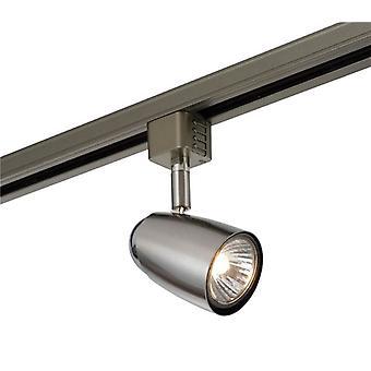 Saxby valaistus Monte 1 Light Track päävalo vain Satiini kromi efekti, kromi levy 42316