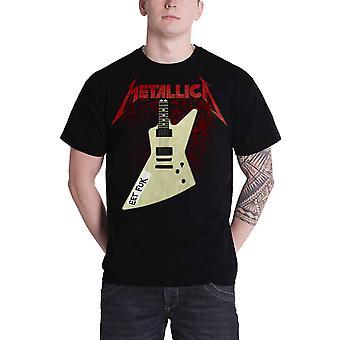 Metallica T Shirt Eet Fuk Hetfield Guitar Band Logo Official Mens New Black