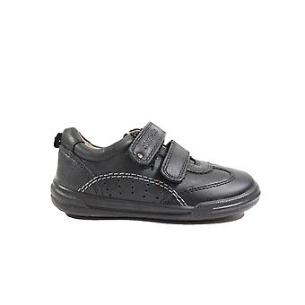 Startrite Flexy Soft Air Black Leather Boys Rip Tape Shoes