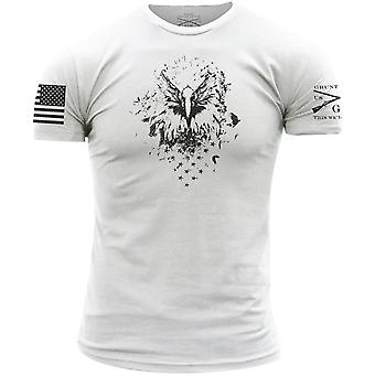 Grunt Style Musta Eagle T-paita-valkoinen