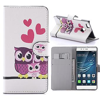 Case For Huawei P9 Lite Pattern Owl Couple