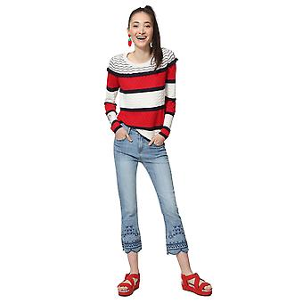 Desigual Women's Clonmel Textured Nautical Sweater