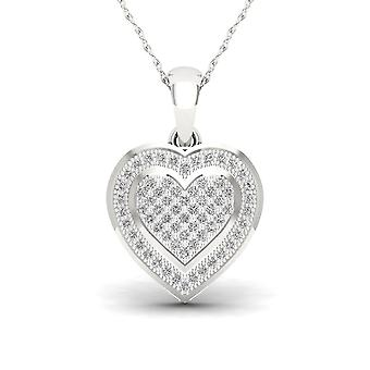 Igi certified s925 silver 0.20ct tdw diamond heart shape cluster halo necklace Igi certified s925 silver 0.20ct tdw diamond heart shape halo necklace Igi certified s925 silver 0.20ct tdw diamond heart shape halo necklace Igi certified s