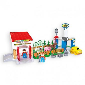 Mochtoys 10669 Farm Set includes a car, animals, fences and much more. from 1 year