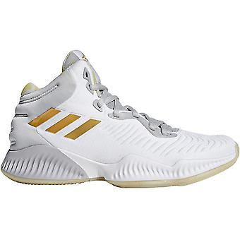 adidas Performance Mens Mad Bounce 2018 Lace Up Basketball Shoes - Grey/White