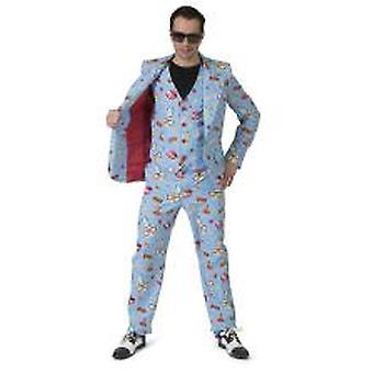 80er Jahre Pow Comic Anzug Herrenkostüm Beach Party Herren Kostüm