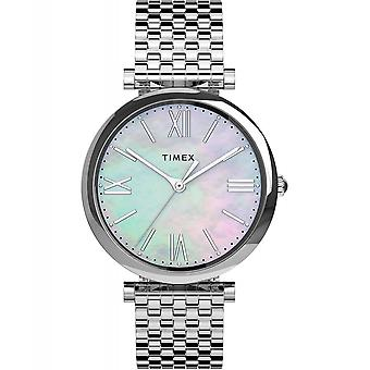 Timex TW2T79300 Parisienne Mother Of Pearl Wristwatch