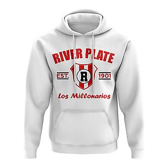 River Plate etablerede fodbold hoody (hvid)