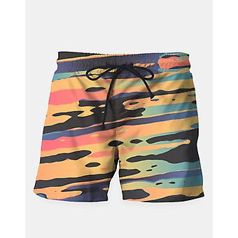 Trippy dawn time swim shorts