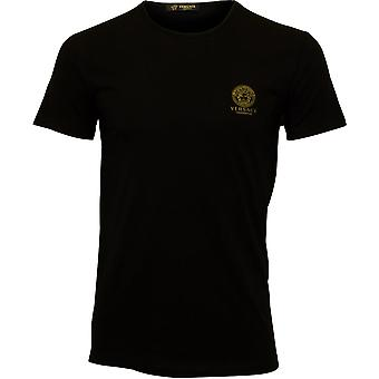 Versace Iconic Crew-Neck T-Shirt, Czarny