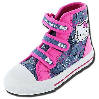 Meninas Kids Hello Kitty personagem de desenho animado Partridge Summer Canvas Boot