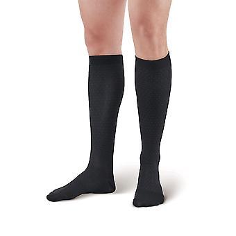 Pebble UK Mens Pin Dot Support Socks [Style P625] Black  XL