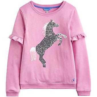 Joules Girls Tiana Graphic Ribbed Long Sleeve Sweatshirt