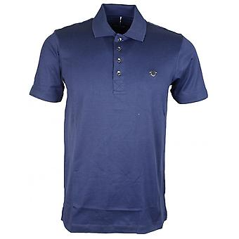 True Religion Metal Logo Cotton Navy Polo