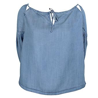 Superdry women's indigo wash arizona peek a boo top
