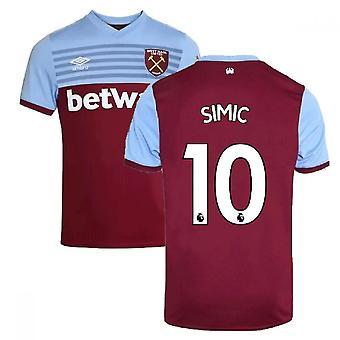 2019-20 West Hamin koti paita (Simic 10)