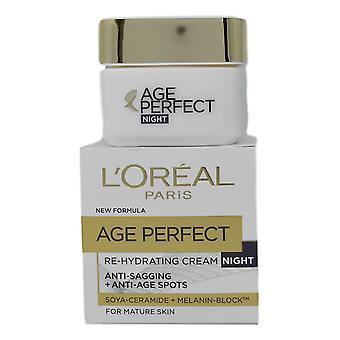 L ' Oreal alder perfekt re hydrerende creme nat 50ml soja ceramid