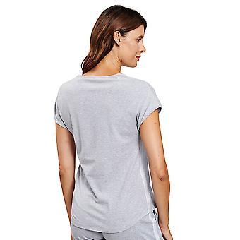 Rösch 1202034-11722 Naiset's Be Happy Heather Grey Loungewear Top